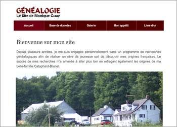 Le site de Monique Guay